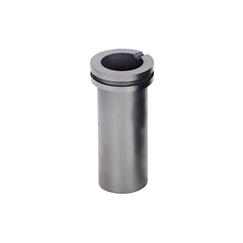 Goldbrunn - Graphit Schmelztiegel 2000 -Schmelztiegel Graphittiegel (2 kg, Nut und Auslaufkerbe, Hitzebeständig) grau