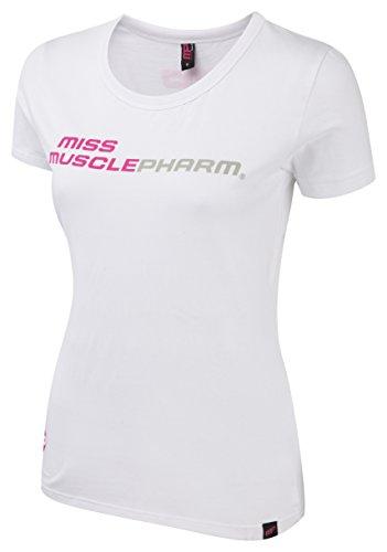 Muscle pharm textilbekleidung printed ladies t-shirt pour femme Blanc - Blanc