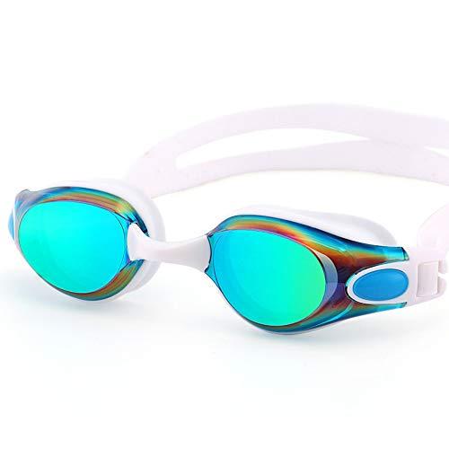 Schwimmbrillen,für Männer Frauen Mädchen,HD-Schutzbrille mit Anti-Fog-Beschichtung, flaches Licht, mit wasserdichter für Männer und Frauen, blau 1,Schwimmbrille mit Antibeschlag und UV Schutz
