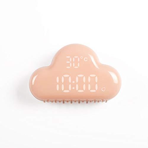 Despertador Nube Estudiantes creativos con la cabecera silenciosa Múltiples Funciones Silencioso Luminoso Niños Reloj electrónico Snooze (Color : Pink)