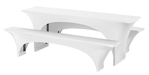 Dena 022501 Hussen-Set Stretch Fortune für Festzeltgarnitur, 90% Polyester -10% Elasthane, 220 x 70...