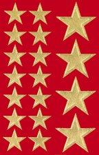 Sigel CS100 Adhesivos navideños Classic, Big golden Stars, 54 sticker