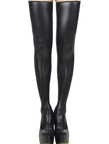 Preisvergleich Produktbild Damen Halterlose Strümpfe mit Schwarz Back Zipper Strumpfwaren Fancy Dress Damen Kostüm Dessous für Einheitsgröße passend für Junggesellinnenabschied Größe M/L