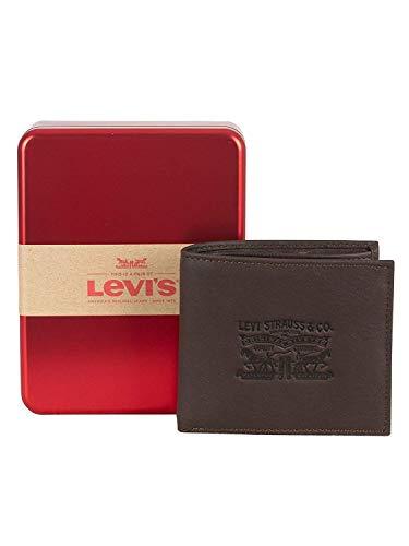 Levi's Uomo Portafoglio Bifold Vintage Two Fold, Marrone, One Size