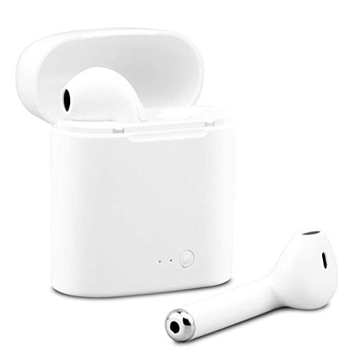 Auriculares Bluetooth Auriculares inalámbricos con Estuche de Carga para XR XS X 8 7 6plus Samsung Galaxy S9 S8 Huawei y Otros teléfonos Inteligentes iOS con Android