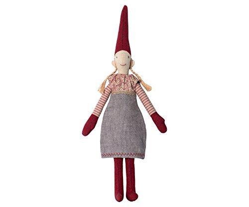 Maileg - Nisse Danese Pixy 2016 - Mini - Ragazza in grigio Abito - 'Elfo Su Una Shelf' - 30cms
