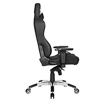 AKRacing Masters Series Premium Gaming Chair with High Backrest, Recliner, Swivel, Tilt, 4D Armrests, Rocker and Seat Height Adjustment Mechanisms with 5/10 warranty - Carbon Black