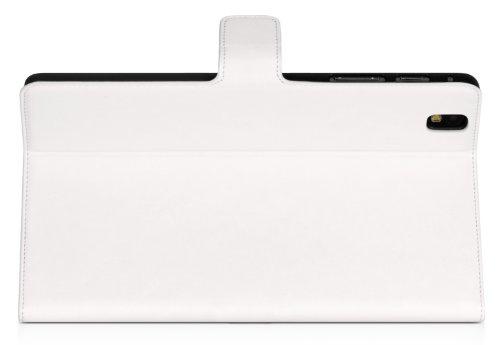DONZO Wallet Washed Tablet Tasche für Samsung Galaxy Tab Pro 8.4 T320 T325 Weiß - 5