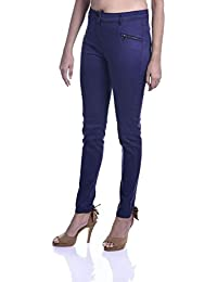 cbba23e7b3230 Timbre Streachable Zip Trousers with Multiple Pockets for Women by Mahajan  Ventures