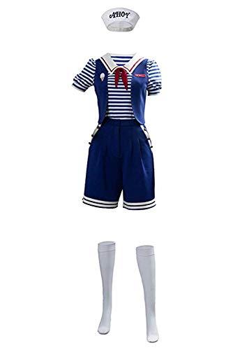 Pole shop Stranger Things Staffel Steve 3 Robin Scoops AHOI Sailor Cosplay Kostüm für Kinder & Erwachsene, Fernsehserie Robin Halloween Kostüm, (Halloween City Kostüm Für Erwachsene)