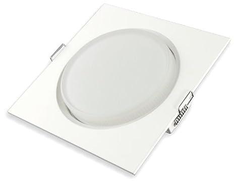 LED-Einbau-Leuchte flach eckig [LED Einbau-Strahler 230V] RX-4 weiße Ausführung, GX53