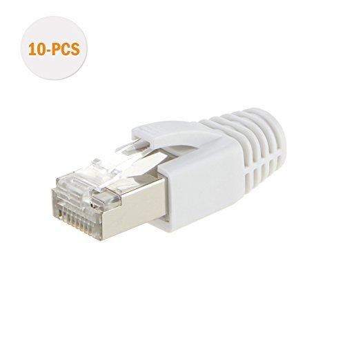 cablecreation-paquete-de-10-unidades-cat-7-rj45-modular-plug-traje-de-dos-piezas-con-blanco-campana-