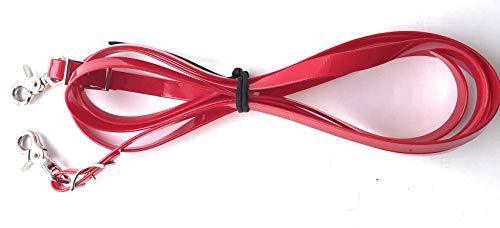 Viva Nature Biothane-Zügel, englisch, 19mm (3,00m,Translucent Rot)
