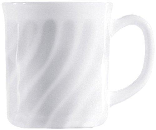 Arcoroc ARC D6880 Trianon Uni Bockbecher, 290 ml, Opalglas, weiß, 6 Stück
