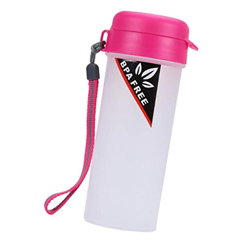 Fenteer Trinkflasche Sportflasche Wasserflasche Kunststoff Getränkeflasche - Lila