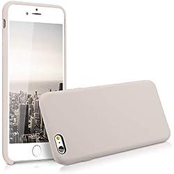 kwmobile Coque Apple iPhone 6 Plus / 6S Plus - Coque pour Apple iPhone 6 Plus / 6S Plus - Housse de téléphone en Silicone Beige