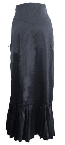 Vielseitig, Gothic/Steampunk Stil Rüschenrock mit Korsett Schnürung in Schwarz oder Burgund. Gr 34-54 Burgund