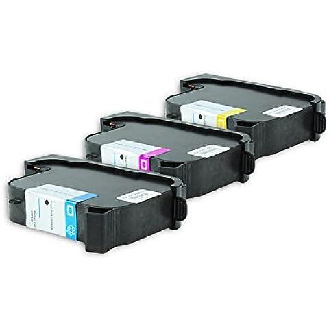 Riciclato per HP DeskJet 1600 CN cartucce di inchiostro set ciano, magenta, giallo - Nr.40 / 51640 - Inhalt: 3 x 42 ml