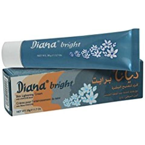 Diana brillante piel de color crema con bloque de uva/UVB 50G por elyseestar–para blanquear negro, Asia, Somalia, árabe