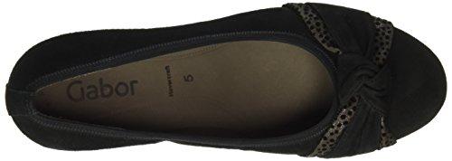 Gabor Shoes Basic, Scarpe con Tacco Donna Multicolore (Schwarz/Zinn 17)