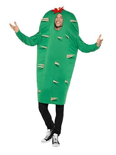 Smiffys 47215 Kaktus Kostüm, Herren, Grün, - Kaktus Kostüm