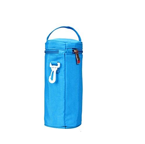 Yvonnelee Zylinderförmige Isoliertasche Isolierte Isoliert Isolier Tasche Thermotasche Kühltasche für Trink Flasche Babyflasche 420D Nylon Wasserabweisend Leicht Klein Babypflege Zubehör 10/10/20cm Test