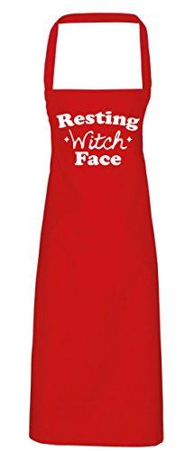 ng Hexe Face Schürze Küche Kochen Malerei DIY Einheitsgröße Erwachsene, rot, Einheitsgröße (Hocus Pocus Halloween-kostüm)