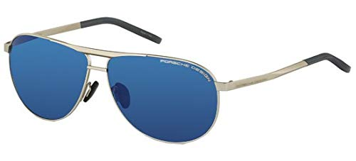 Occhiali da sole porsche design p 8642 pale gold/blue uomo