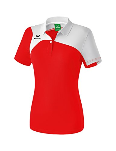 Erima Damen Club 1900 2.0 Polo, rot/Weiß, 36