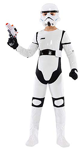 Mädchen Stormtrooper Star Kostüm Wars - KOSTUumlM Fasching Karneval Star Baby Krieger fuumlr KARNAVALKOSTUumlME Fancy Dress Halloween Cosplay Veneziano Party 52390 Size 4