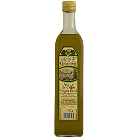 Aceite de Oliva Virgen Extra. Sierra de Guadalcanal 2016. Botella. Cristal. Transparente. 750 CC