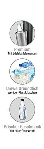 SodaStream CRYSTAL 2.0 Glaskaraffen Wassersprudler zum Sprudeln von Leitungswasser, mit spülmaschinenfester Glasflasche für Sprudelwasser. inkl. 1 Zylinder und 2 Glaskaraffen 0,6l; Farbe: Titan/Silber - 5