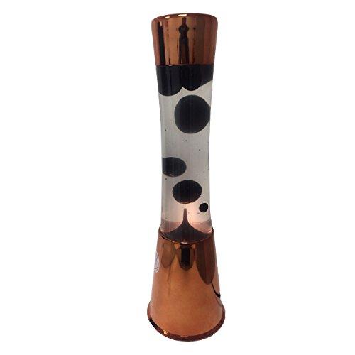 fisura–Lavalampe schwarz Base bronze Cod. 12444