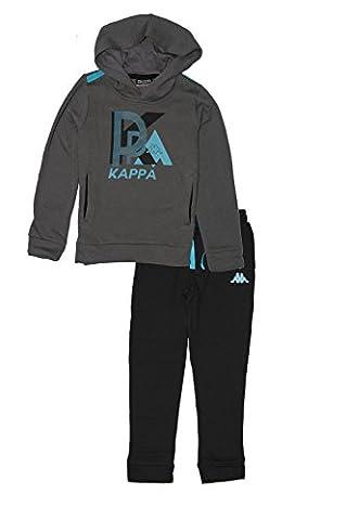 Kappa - Survêtement - Garçon noir Steel Grey/Black - noir - 6 ans