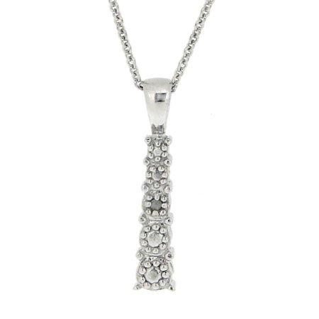 Sterling Silber Abschlussklasse Diamant Akzent Reise