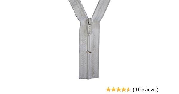 0,21 EUR//Stück 24 mm breit nahtfein weiß 18 cm lang 50 Reißverschlüsse