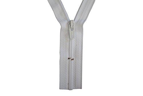 Reißverschluss weiß 135 cm für Bettwäsche Kopfkissen Bettbezüge schließbare Länge