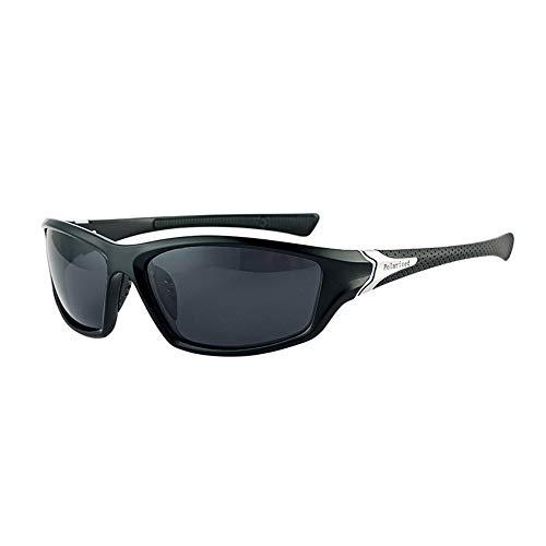 Ruanyi Sonnenbrillen für Männer, Sport Sonnenbrillen UV400 Acryl Kunststoff Sonnenbrillen Polarisiertes Licht Vollformat (Color : Black Frame)