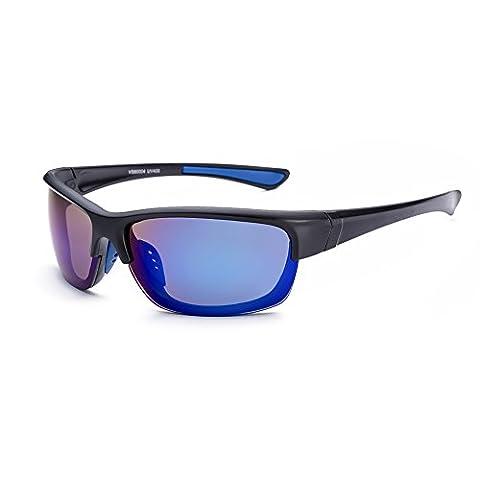 HMILYDYK Men's Polarized Sunglasses Wayfarer Reader Designer Style UV400 Sports Full Frame Eyewear Goggles