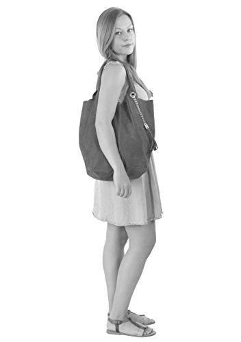 histoireDaccessoires - Borsa Pelle Donna Portata sulla Spalla - SA136623GV-Miss Navy
