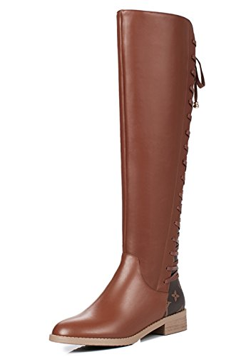 Nine Seven Knee alto Boot donna Brown