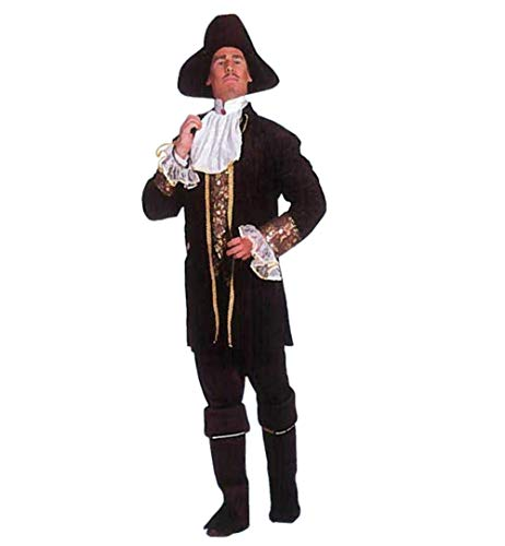 Hoher Mann Piraten See Kostüm - KarnevalsTeufel Herrenkostüm Pirat in schwarz Seeräuber Freibeuter Verkleidung Halloween Karneval (50)