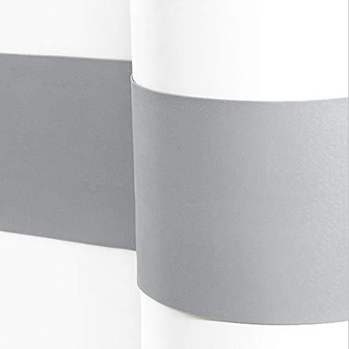 Sossai® Flexibler Wandschutz Serpent Länge: 1 Meter   Höhe 210mm   Selbstklebend   Wandschutzfolie Kantenschutz Schmutzschutz Flurleiste Rammschutz   Farbe: Hellgrau
