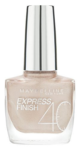 Maybelline New York Make-Up Nailpolish Express Finish Nagellack Brassy / Ultra schnelltrocknender Farblack in glitzerndem Rosa, 1 x 10 ml