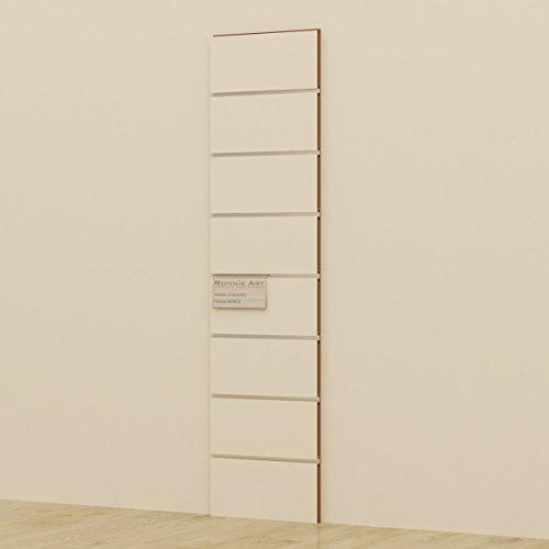 Pannello dogato cabina armadio guardaroba arredamento negozi 30x120 cm (bianco)