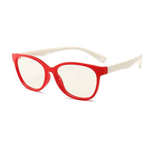 Nerds Geeks Jungs Kostüm Und - Hibote Mädchen Jungen Anti Blaulicht Brillen - Silikon - Klare Linse Gläser Rahmen Geek/Nerd Brillen mit Auto Form Brillenetui - 18083005