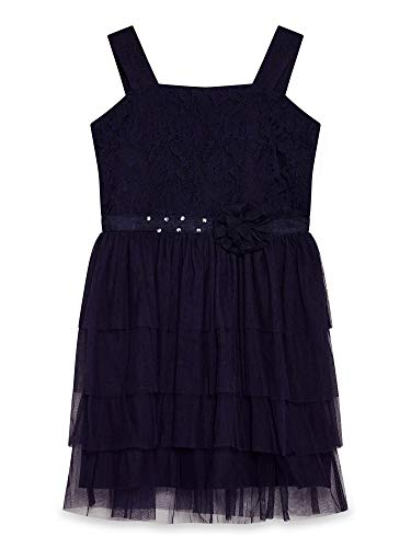 Navy Yumi (Girl) Embellished Waist Party Dress (Girls Embellished Dress)