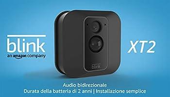 Blink XT2 | Telecamera di sicurezza per interni/esterni con archiviazione sul cloud, audio bidirezionale, autonomia di 2...