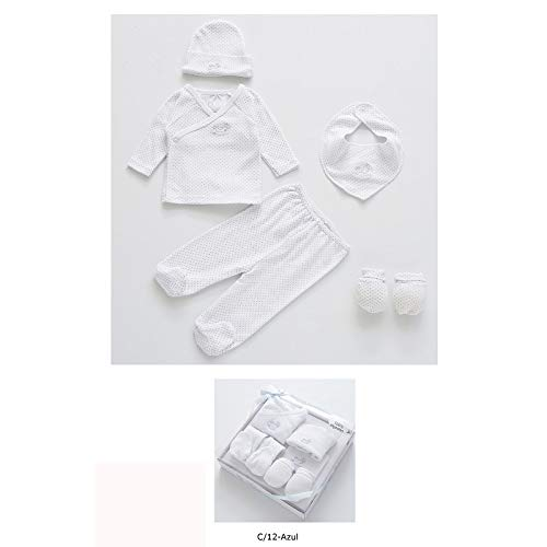 Duffi Baby 1378-12 - Set de regalo topitos 100% algodón, 5 piezas