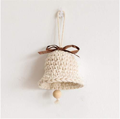 XMUMA Kleine Glocke Anhänger Neue Jahr Dekoration Wind Glocke Tür Anhänger Kindergarten Kreative Nordic Baumwollseil Hängen -9 * 8,5 Cm (Dekorationen Für Das Neue Jahr)
